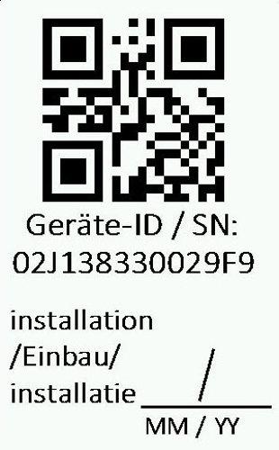 Geräte-Ident QR-Code auf vielen JUDO Produkten